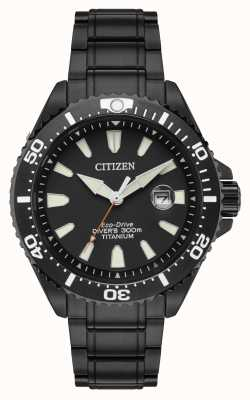 Citizen Royal marines limited edition 300m ion plated titanium BN0149-57EE