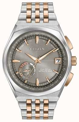 Citizen Mens eco-rijden satelliet golf gps two tone CC3026-51H