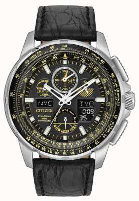 Citizen Eco-Drive limited edition skyhawk op leer JY8057-01E
