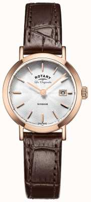 Rotary Womens les originales Windsor bruine lederen band LS90157/02