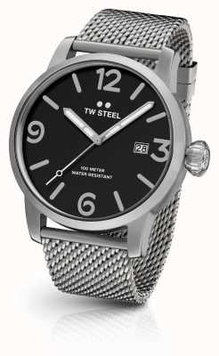 TW Steel Mens maverick chronograaf mesh band zwarte wijzerplaat MB13