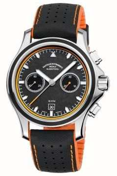 Muhle Glashutte Promare chronograaf synthetische band carbon wijzerplaat M1-42-04-NB