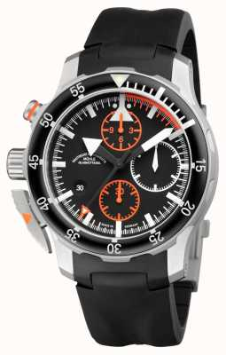 Muhle Glashutte Sar Flieger-chronograaf indian rubberen band zwarte wijzerplaat M1-41-33-KB
