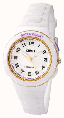 Limit Kids wit resin band witte wijzerplaat 5590.24