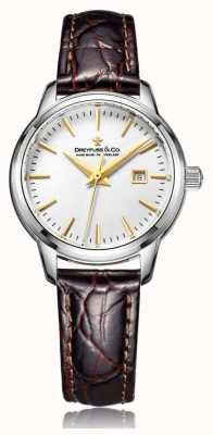 Dreyfuss Ladies swiss made horloge met bruine riem DLS00125/02