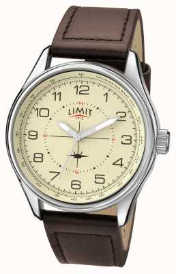Limit Mens piloot bruine band room dial 5619.01