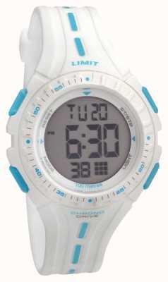 Limit Kids racing digitale witte rubberen riem 5395.56