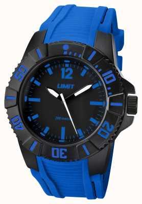 Limit Heren actieve blauwe band zwarte wijzerplaat 5546.02