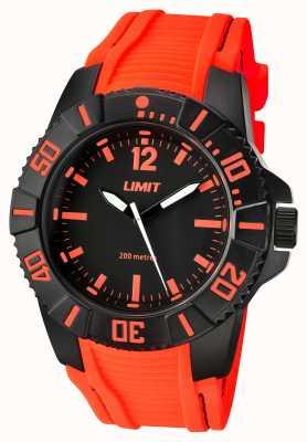 Limit Mannen actieve oranje band zwarte wijzerplaat 5547.02