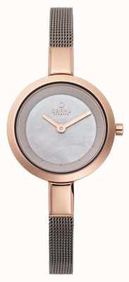 Obaku Womans roosgouden roestvrijstalen armband V129LXVJMJ