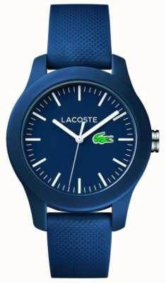 Lacoste 12.12 | unisex navy rubberen band navy wijzerplaat 2000955