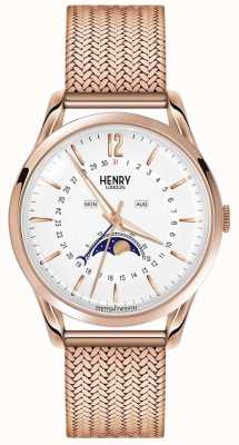 Henry London Mens maanstand rose goud pvd verguld HL39-LM-0162