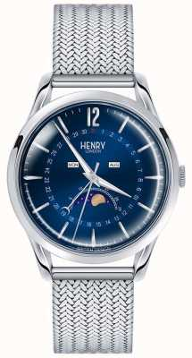 Henry London Mens maanstand roestvrij staal HL39-LM-0085