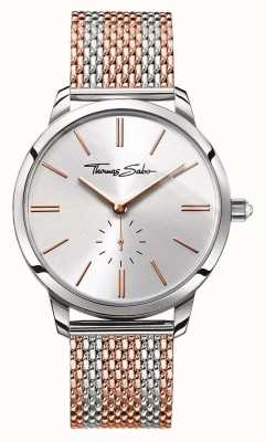 Thomas Sabo Womans glam geest two tone mesh band rose goud zilver WA0273-283-201-33