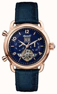 Ingersoll Heren 1892 het nieuwe Engeland Blue Leather Blue Dialengland I00902
