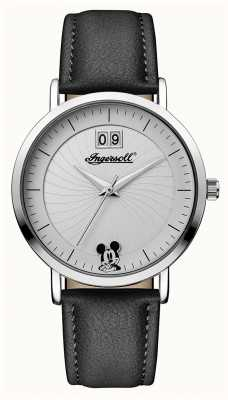 Disney By Ingersoll Womens union de disney zwarte lederen band ID00501