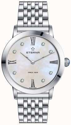 Eterna Womans eeuwigheid diamant quartz pearl dial 2720.41.66.1738