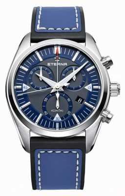 Eterna Mens Kontiki chronograaf quartz blauw 1250.41.81.1303