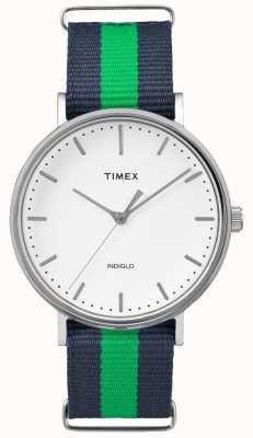 Timex Unisex weekender fairfax marine groene band TW2P90800