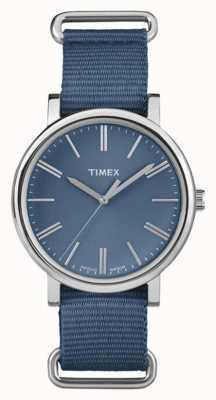 Timex Unisex marine wijzerplaat marine stoffen band TW2P88700