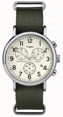 Timex Unisex weekender chronograaf cream dial TW2P71400
