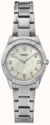 Timex Womans easton avenue staal pearl dial band TW2P76000