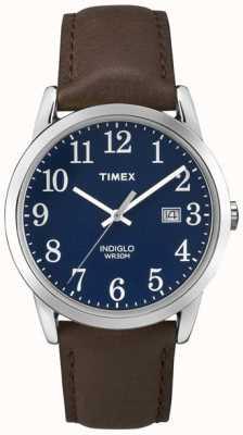 Timex Mens blauwe wijzerplaat makkelijk reader TW2P75900
