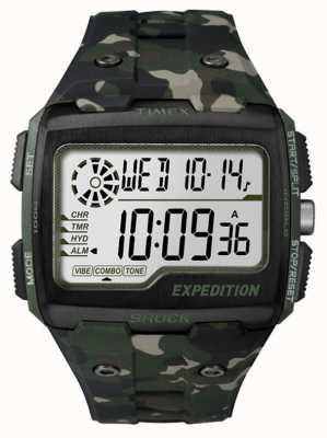 Timex Mens raster shock alarm chronograaf khaki TW4B02900