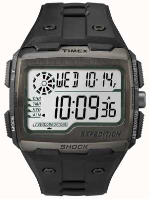 Timex Mens raster shock alarm chronograaf allemaal zwart TW4B02500