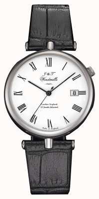 J&T Windmills Mens Threadneedle mechanisch horloge zwarte bandjes WGS10004/01