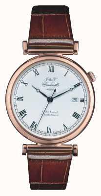J&T Windmills Mens bartholomew mechanische rose gouden horloge WGS50001/01