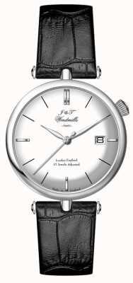 J&T Windmills Mens Threadneedle Mecahnical sterling zilveren horloge WGS10003/06