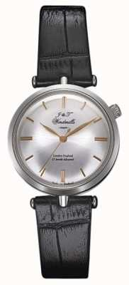 J&T Windmills Womans Threadneedle mechanisch horloge zilveren roos goud WLS10001/06