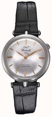 J&T Windmills Womans Threadneedle mechanisch horloge zilveren roos goud WLS10001/06