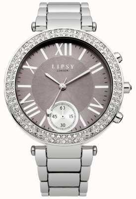 Lipsy Vrouwen roestvrij stalen armband grijze wijzerplaat LP453