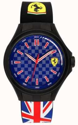 Scuderia Ferrari Mannetje bemanning unie vlag rubberen band blauwe wijzerplaat 0830351