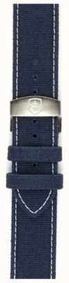 Elliot Brown Alleen 22 mm gewassen blauwe canvas vouwband voor heren STR-C01