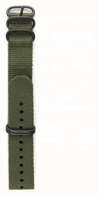 Elliot Brown Mens 22mm Olijf Ballistic Nylon Gunmetal Hardware Strap STR-N01