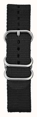 Elliot Brown 22 mm zwarte ballistische nylon geborstelde hardware voor heren STR-N03