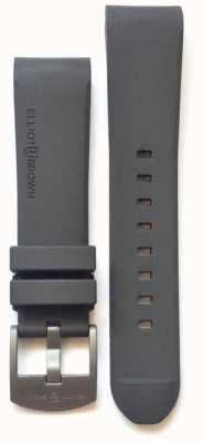 Elliot Brown 22 mm grijze rubberen stalen tonggesp voor heren STR-R02
