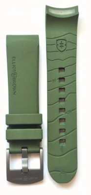Elliot Brown Mannen 22mm groene rubber gunmetal tong gesp gesp alleen STR-R04