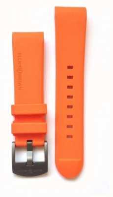 Elliot Brown Mannelijke 22mm oranje rubberstaal tong gesp gesp band alleen STR-R05