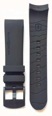 Elliot Brown Mens 22mm zwarte rubberen zwarte gesp band alleen STR-R08