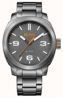 Hugo Boss Orange Heren grijze toon roestvrij staal grijze wijzerplaat 1513420