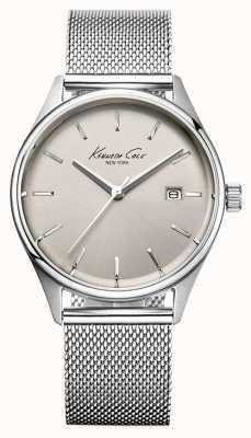Kenneth Cole Vrouwen roestvrijstalen mesh armband zilverkleurige wijzerplaat KC10029399