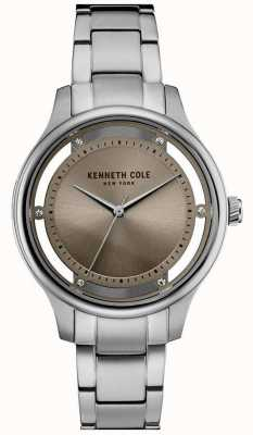 Kenneth Cole Vrouwen roestvrijstalen armband zilveren wijzerplaat KC10030795