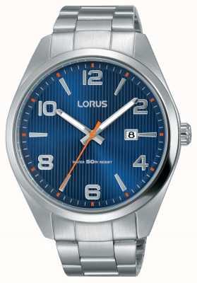Lorus Heren roestvrij stalen armband blauwe wijzerplaat RH961GX9