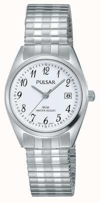 Pulsar Dames roestvrij stalen armband witte wijzerplaat PH7443X1