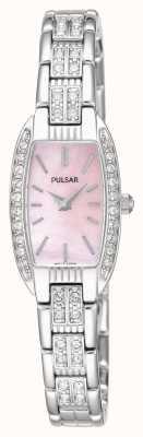 Pulsar Dames roestvrij stalen armband roze parelmoer wijzerplaat PEGG75X1