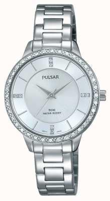 Pulsar Dames roestvrij stalen armband zilveren wijzerplaat PH8213X1